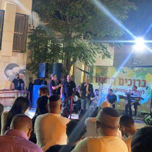 השתתפות בשמחת בית השואבה במנהל הקהילתי בשכונת קטמון.