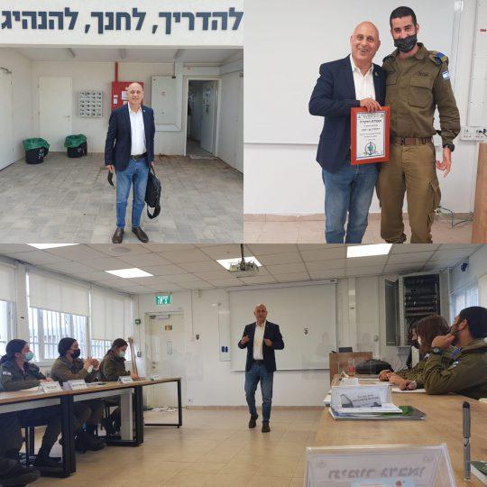 יהודה בהרצאה לקורס קצינים